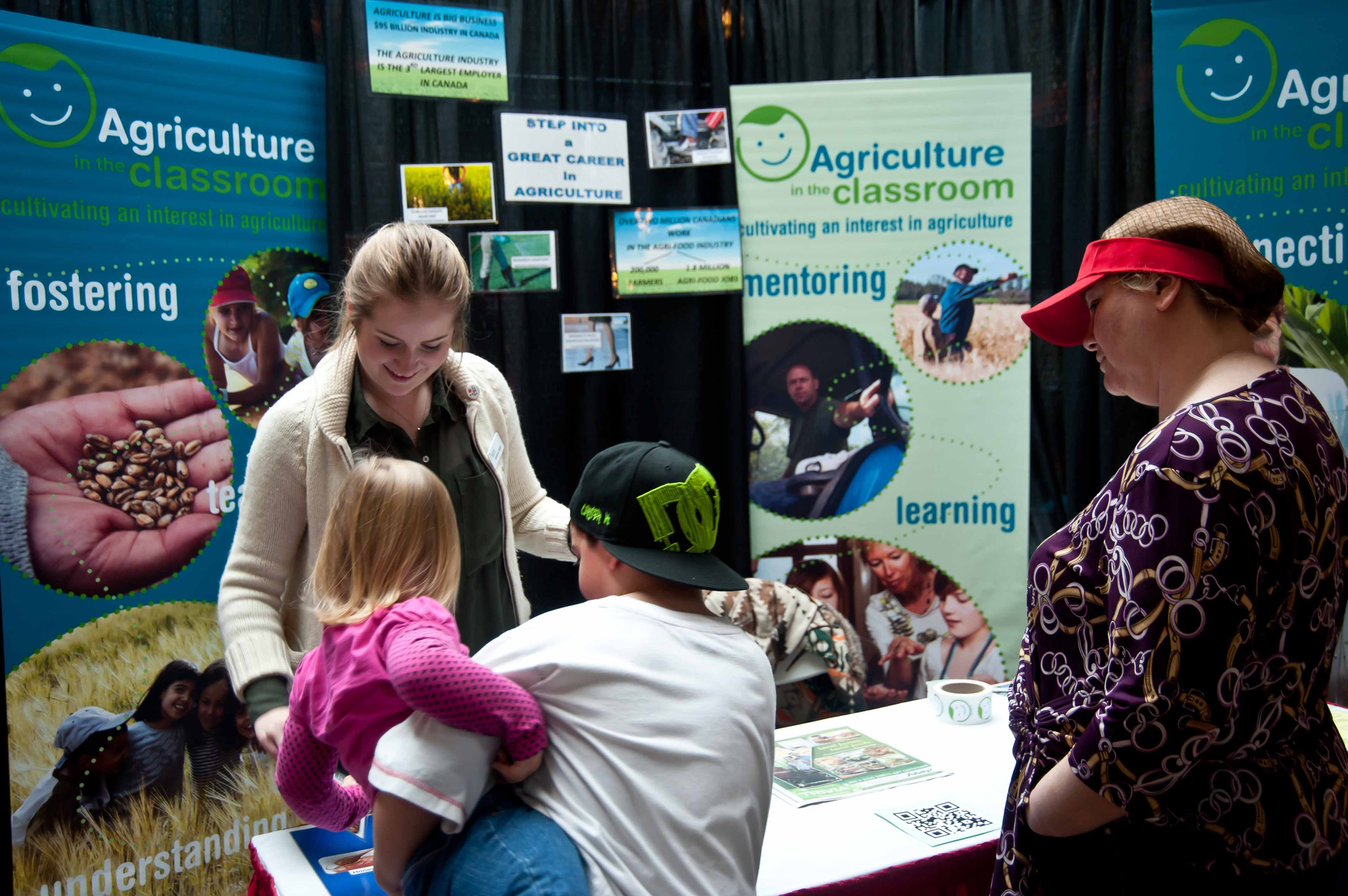 Vistors learn about the function of the Ag in the Classroom program in Manitoba.